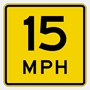 W13-1 Warning Speed Advisory plate -Reflective traffic sign