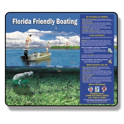 "Florida Friendly Boating Sign 30"" x 36"" Reflective Aluminum"