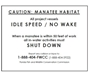 Caution: Manatee Habitat Idle Speed 8.5 x 11 sign