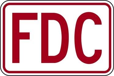 FDC  sign for Fire Department