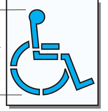Handicap Symbol Stencil for Disabled Parking
