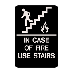 "In Case Of Fire Braille Sign 9""x6"""