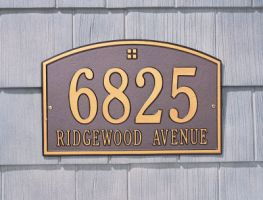 "Cape Charles Address Plaque 15"" x 9.5"""