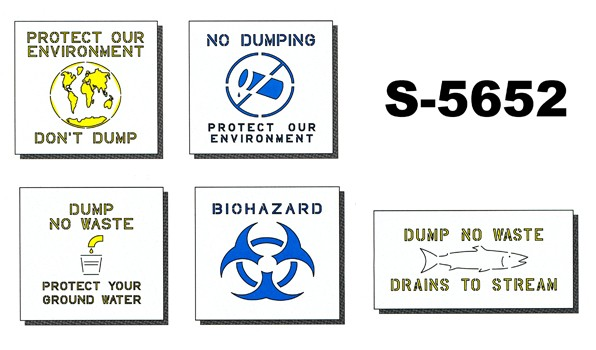 Environmental Health Stencil Kit-5pc